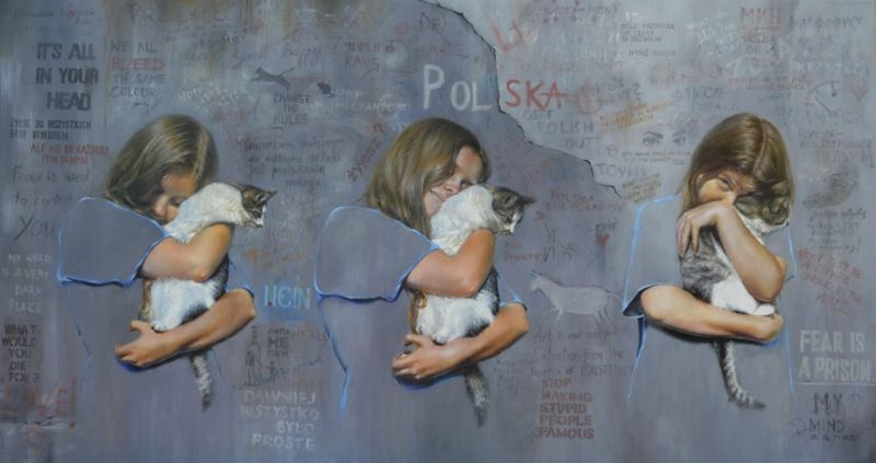 All you need is love (olej, 150 x 80 cm)/ All you need is love (oil, 150 x 80 cm)